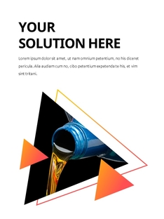 석유 산업 (Oil industry) 세로형 프레젠테이션