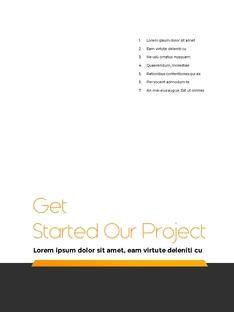 Start Project 비즈니스 PPT template