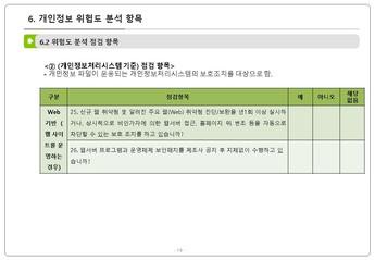 인사 노무 업무 단계별 개인정보 처리요령 #20