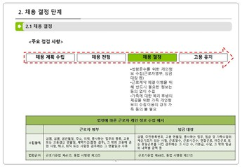 인사 노무 업무 단계별 개인정보 처리요령 page 6