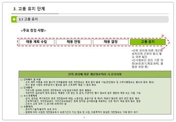 인사 노무 업무 단계별 개인정보 처리요령 page 7