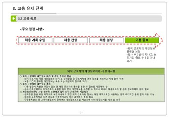 인사 노무 업무 단계별 개인정보 처리요령 page 8