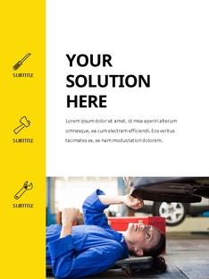 Auto Repair Shop (자동차 정비) 세로형