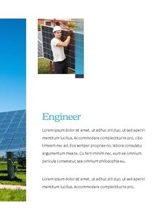 친환경 에너지 세로형 파워포인트 템플릿