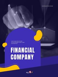Financial Company Report 세로형 template