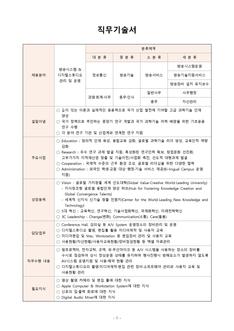 직무기술서(방송시스템 관리 및 운영 분야)