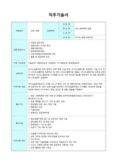 직무기술서(보존 및 복원 분야)