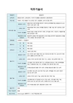 직무기술서(자동차 부품 품질관리 분야)