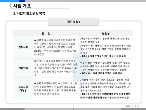 어린이 수영장 사업계획서(투자자금 조달용) - 섬네일 6page