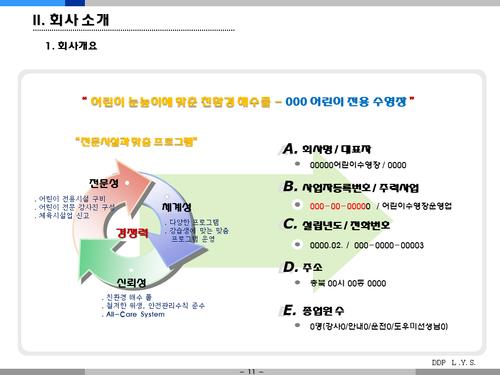 어린이 수영장 사업계획서(투자자금 조달용) - 섬네일 11page
