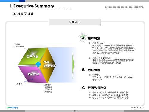 종합병원 투자자금조달 사업계획서(투자자금 조달용) - 섬네일 7page