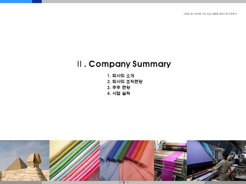 염색공장 해외투자 사업계획서(투자자금 조달용) - 섬네일 9page