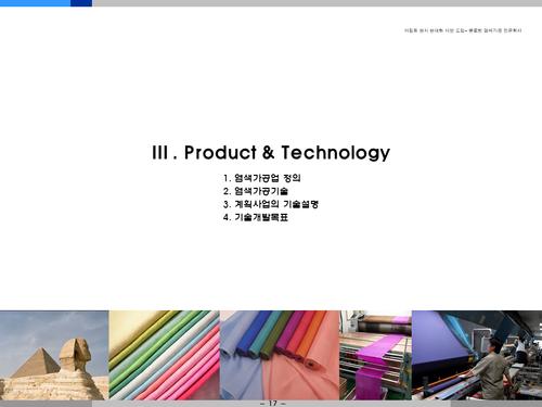 염색공장 해외투자 사업계획서(투자자금 조달용) - 섬네일 17page