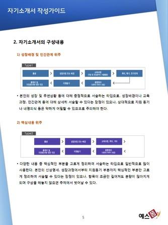 자기소개서 작성가이드 - 섬네일 6page