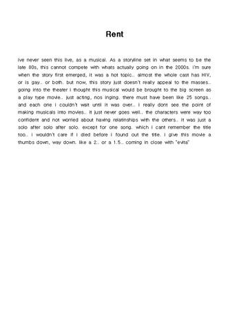 (영문) 영화감상문(Rent) - 섬네일 1page