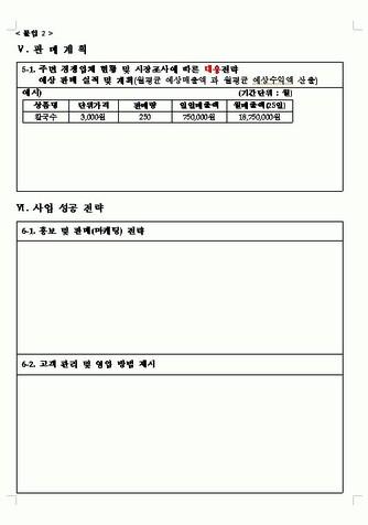 2008년 하반기 여성가장 창업자금 지원사업 계획서(한국여성경제인협회) - 섬네일 9page