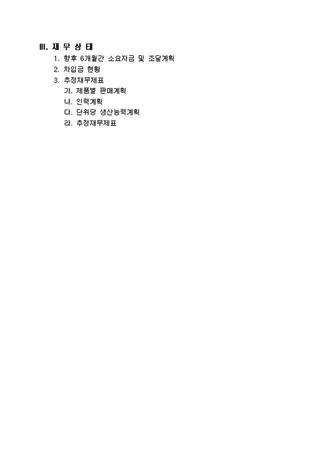 자금조달용 사업계획서 표준(기본서식) - 섬네일 3page