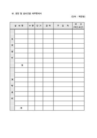자금조달용 사업계획서 표준(기본서식) - 섬네일 11page