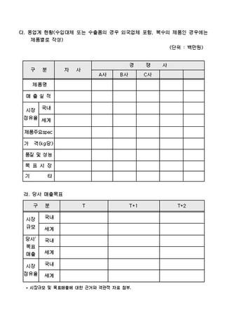 자금조달용 사업계획서 표준(기본서식) - 섬네일 14page