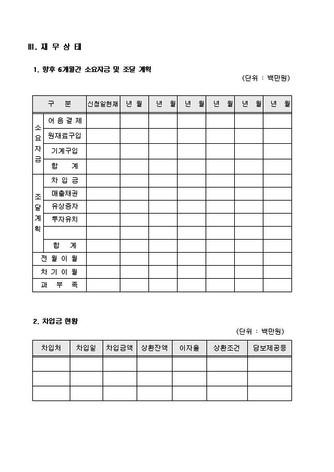 자금조달용 사업계획서 표준(기본서식) - 섬네일 17page