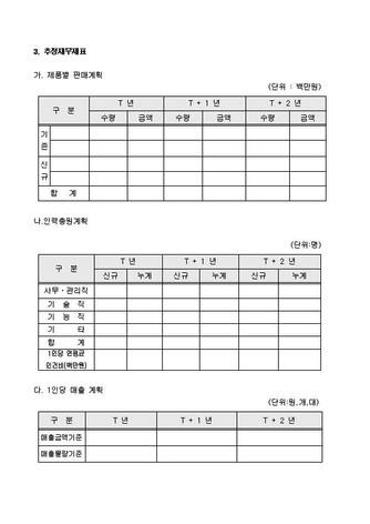 자금조달용 사업계획서 표준(기본서식) - 섬네일 18page