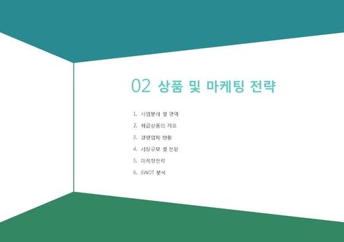 도소매업 표준 사업계획서(영업제안용)(5) - 섬네일 11page