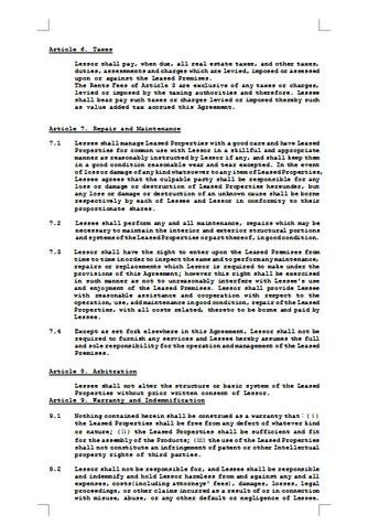 임대차계약서(영문 임대차 계약 예시) - 섬네일 2page