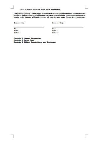 임대차계약서(영문 임대차 계약 예시) - 섬네일 5page