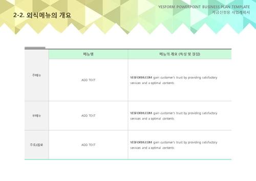 음식.외식업 표준 사업계획서(자금신청용)(1) - 섬네일 12page