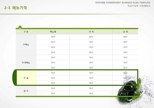 음식.외식업 표준 사업계획서(자금조달용)(1) - 섬네일 13page