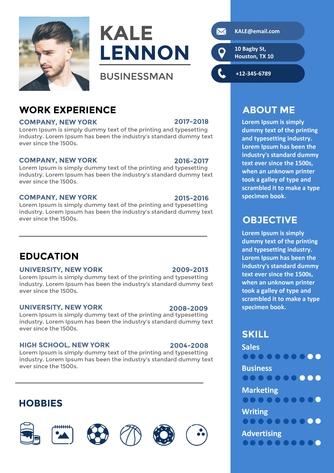 영문 이력서 (Businessman(Administration) resume) - 섬네일 1page