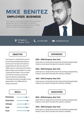 영문 이력서 (Employees Business resume) - 섬네일 1page
