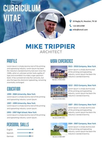영문 이력서 (Architect(Engineer) resume) - 섬네일 1page