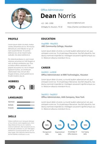 영문 이력서 (Office Administrator resume) - 섬네일 1page