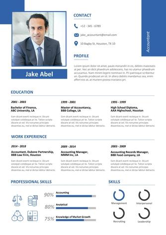 영문 이력서 (Accountant(finance) resume) - 섬네일 1page