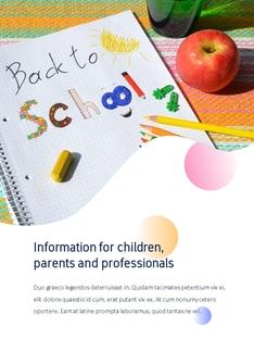 Back to School (교육, 학교) 세로형 템플릿