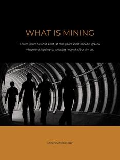 채광 산업 (Mining Industry) 세로형 PPT
