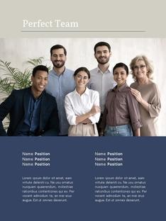 Corporate Business Report 세로형 템플릿