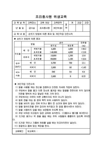 조리종사원 위생교육 - 섬네일 7page
