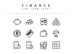 금융 라인 아이콘 3종세트