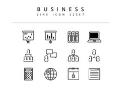 비즈니스 라인 아이콘 3종세트(1)