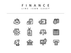 금융 라인 아이콘 3종세트(1)