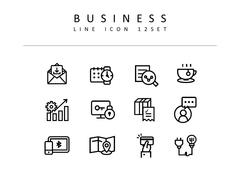 비즈니스 라인 아이콘 3종세트(2)