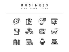 비즈니스 라인 아이콘 3종세트(3)