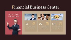 금융 비즈니스 (Financial) 피피티 템플릿