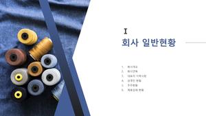 제조업 투자제안서 (섬유제품)