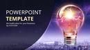 글로벌 비즈니스(전구이미지) PPT 배경템플릿