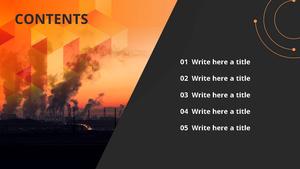 대기 오염 (공장) 파워포인트 디자인 - 와이드