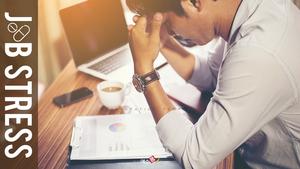 비즈니스 Job Stress 테마 피피티템플릿