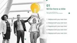비즈니스 (노트북) 파워포인트 디자인 - 와이드